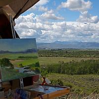 USA, Idaho, Silver Creek. Plein Air canvas and landscape. Artist: Susan Perin.