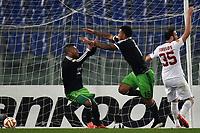 Esultanza Gol Colim Kazim Richards Feyenoord Goal celebration <br /> Roma 19-02-2015 Stadio Olimpico Football Calcio Europa League AS Roma - Feyenoord . Foto Andrea Staccioli / Insidefoto
