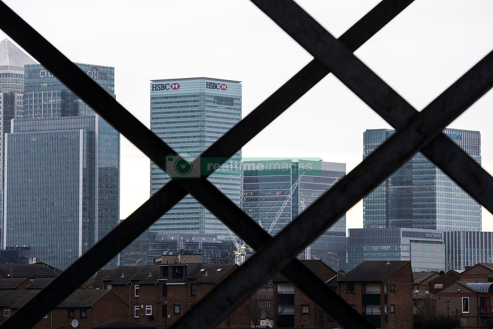 General view of Canary Wharf in London, showing the headquarters of HSBC and Barclays Bank. The banks are amongst several rumoured to be planning a move to Frankfurt after the UK's decision to leave the European Union. PRESS ASSOCIATION Photo. Picture date: Wednesday November 23rd, 2016. Photo credit should read: Matt Crossick/PA Wire