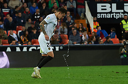 November 24, 2018 - Valencia, Valencia, Spain - Santi Mina of Valencia CF celebrates a goal during the La Liga match between Valencia CF and Rayo Vallecano at Mestalla Stadium on November 24, 2018 in Valencia, Spain  (Credit Image: © Maria Jose Segovia/NurPhoto via ZUMA Press)