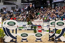 GREVE Willem (NED), FARO<br /> Neumünster - VR Classics 2020<br /> Preis der Turnier- & Reitsportgemeinschaft Holstenhalle Neumünster e.V.<br /> CSI3* internationales Eröffnungsspringen nach Strafpunkten und Zeit (1,45m)<br /> Designer Outlet Neumünster Sonderpreis<br /> 14. Februar 2020<br /> © www.sportfotos-lafrentz.de/Stefan Lafrentz