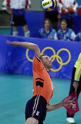 19-09-2000 AUS: Olympic Games Volleybal Nederland - Australie, Sydney<br /> Nederland wint vrij eenvoudig van Australie met 3-0 / Richard Schuil