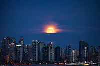 Moonset over Vancouver Skyline