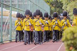Review Of The Troops Before Going To The Royal Palace in Bangkok, Thailand, on May 04, 2019. Coronation of the King of Thailand, Rama X, His Majesty King Maha Vajiralongkorn Bodindradebayavarangkun, Bangkok, Thailand. Photo by Loic Baratoux /ABACAPRESS.COM