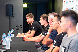 January 12, 2019 - Peter Sagan (L) at TDU Official Race Press Conference, with Mike Turtur, TDU Race Director, Daryl Impey (Mitchelton-SCOTT) 2018 TDU Champion, Peter Sagan (BORA-hansgrohe), Richie Porte (Trek-Segafredo) & Caleb Ewan (Lotto-Soudal), Tour Down Under, Australia on the 12 of January 2019  (Credit Image: © Gary Francis/ZUMA Wire)