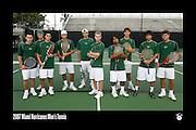 2007 Miami Hurricanes Men's Tennis Team Photo