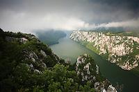 Canyon landscape of the Iron gate passage, National Park Djerdab, Serbia