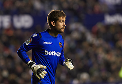 January 10, 2019 - Valencia, Valencia, Spain - Aitor Fernandez of Levante UD during the Spanish Copa del Rey match between Levante and Barcelona at Ciutat de Valencia Stadium on Jenuary 10, 2019 in Valencia, Spain. (Credit Image: © AFP7 via ZUMA Wire)