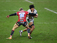 Rugby Union - 2020 / 2021 Gallagher Premiership - Gloucester vs Northampton Saints - Kingsholm<br /> <br /> Northampton Saints' Lewis Ludlam is tackled by Gloucester's Ollie Thorley.<br /> <br /> COLORSPORT/ASHLEY WESTERN