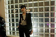 ERIN O'CONNOR, Puma/ Hussein Chalayan Retrospective Exhibition. Design Museum, London. 21 January 2009. *** Local Caption *** -DO NOT ARCHIVE-© Copyright Photograph by Dafydd Jones. 248 Clapham Rd. London SW9 0PZ. Tel 0207 820 0771. www.dafjones.com.<br /> ERIN O'CONNOR, Puma/ Hussein Chalayan Retrospective Exhibition. Design Museum, London. 21 January 2009.