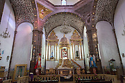 Interior of the Templo de San Juan de Dios church in the historic city of San Miguel de Allende, Mexico.