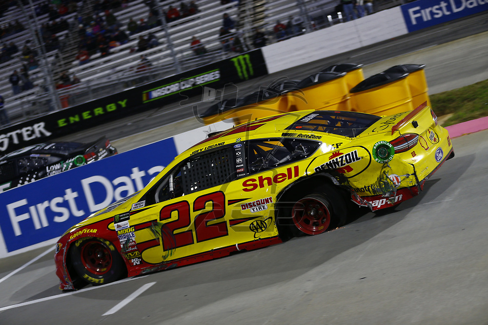 October 29, 2017 - Martinsville, Virginia, USA: Joey Logano (22) brings his car down pit road for service during the First Data 500 at Martinsville Speedway in Martinsville, Virginia.
