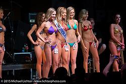 Destination Daytona Saturday night bikini contest during Daytona Beach Bike Week 2015. FL, USA. March 14, 2015.  Photography ©2015 Michael Lichter.