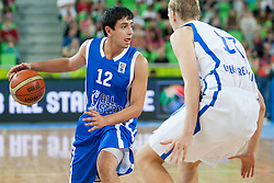 Dogukan Sanli (team blue) of Turkey during basketball match U18 All Star Game 2013 at Day 18 of Eurobasket 2013 on September 21, 2013 in SRC Stozice, Ljubljana, Slovenia. (Photo By Urban Urbanc / Sportida)