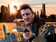 Caricature: Based on an Lawrence Block novel,  Private investigator Matthew Scudder (Liam Neeson) is hired by a drug kingpin to find out who kidnapped and murdered his wife. Originally published in Penthouse Movie Review.
