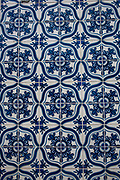 Detail shot of tiles in the old town of Sao Luis, state capital of Maranhao in Northeastern Brazil, 10th May 2014. Sao Luis is famous for its colourful tiles.