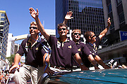 Russel Coutts, Queen street ticker tape parade for Team New Zealand, winners of the America's Cup 2000
