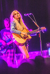 Nina Nesbitt on stage tonight at the Usher Hall<br /> Lothian Rd, Edinburgh.<br /> © Michael Schofield.