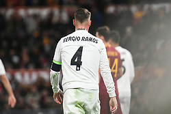 November 27, 2018 - Rome, Italy - Sergio Ramos of Real Madrid during the Champions league football match between AS Roma  and Real Madrid at Olimpico stadium in Rome, Italy, on November 27, 2018. (Credit Image: © Federica Roselli/NurPhoto via ZUMA Press)