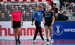 11-12-2019 JAP: Netherlands - Korea, Kumamoto<br /> Last match Main Round Group1 at 24th IHF Women's Handball World Championship, Netherlands win the last match against Korea with 36 - 24. / Tess Wester #33 of Netherlands