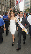13 June 2010-New York, NY- l to r: Jennifer Lopez and Mark Anthony, King of the Parade at the 2010 Puerto Rican Day Parade held along Fifth Ave from West 44th to West 79th Streets. Crowds estimated up to 2 million enjoyed the music, people and float that lined the Parade route.