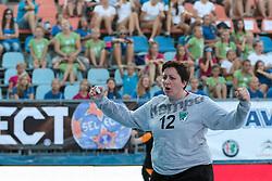 Andreja Peric of RK Zagorje during handball match between RK Zagorje and RK Krim Mercator of Super Cup 2016, on August 27, 2016 in SRC Marina, Portoroz / Portorose, Slovenia. Photo by Matic Klansek Velej / Sportida