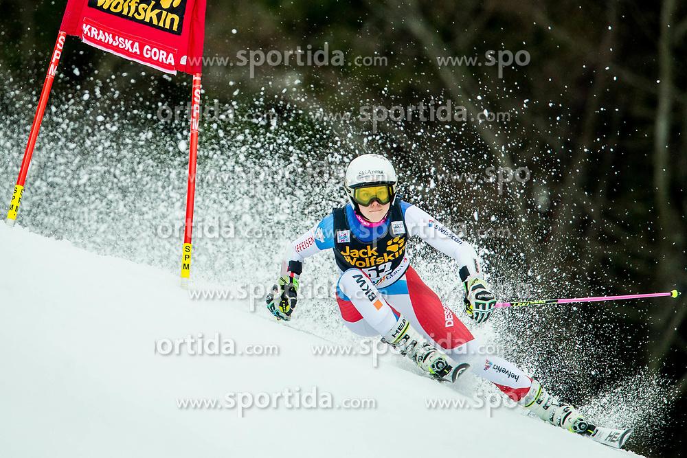 "Aline Danioth (SUI) during 2nd Run of the FIS Alpine Ski World Cup 2017/18 5th Ladies' Giant Slalom race named ""Golden Fox 2018"", on January 6, 2018 in Podkoren, Kranjska Gora, Slovenia. Photo by Ziga Zupan / Sportida"