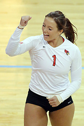 17 October 2014:  Sierra Burris during an NCAA Missouri Valley Conference (MVC) womens volleyball match between the Northern Iowa Panthers and the Illinois State Redbirds for 1st place in the conference at Redbird Arena in Normal IL
