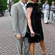 NLD/Amsterdam/20100721 - Huwelijk van Kim Feesntra en DJ Michael Mendoza, Monique Collignon en partner Jan Henny Holvast