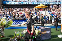 UTRECHT -  Teleurstelling bij Teun Rohof (A'dam)    na  de finale van de play-offs om de landtitel tussen de heren van Kampong en Amsterdam (3-1).    COPYRIGHT KOEN SUYK