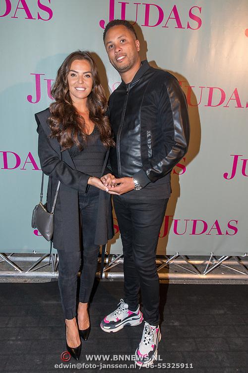 NLD/Amsterdam/20180920 - Premiere Judas, Laura Ponticorvo en partner Rijan Rijger