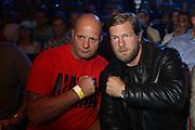 Boxing: Middleweight, Felix Sturm - Predrag Radosevic, Dortmund, 06.07.2013<br /> Actor Henning Baum (r.)<br /> ©pixathlon