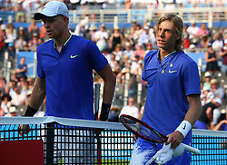 June 19, 2017 - London, United Kingdom - Denis Shapovalov (CAN) beats Kyle Edmund GBR)  during Round One match on the first day of the ATP Aegon Championships at the Queen's Club in west London on June 19, 2017  (Credit Image: © Kieran Galvin/NurPhoto via ZUMA Press)
