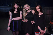 ]The Prettiots (Lulu Prat, Kay Kasparhauser and Rachel Trachtenburg) pose for a portrait during 35 Denton at Rubber Gloves in Denton, Texas on March 15, 2015. (Cooper Neill for The New York Times)