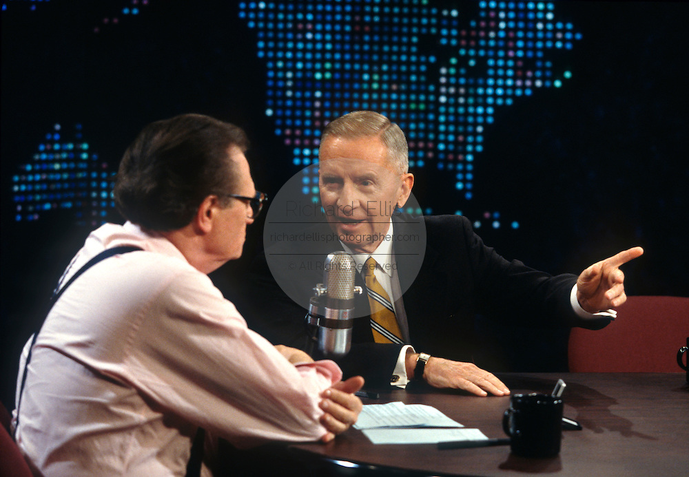 Independent candidate Ross Perot on CNN's Larry King Live March 6, 1997 in Washington, DC.
