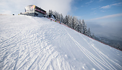 17.01.2017, Hahnenkamm, Kitzbühel, AUT, FIS Weltcup Ski Alpin, Kitzbuehel, Abfahrt, Herren, Streckenbesichtigung, im Bild Starthaus // Starthouse during the course inspection for the men's downhill of FIS Ski Alpine World Cup at the Hahnenkamm in Kitzbühel, Austria on 2017/01/17. EXPA Pictures © 2017, PhotoCredit: EXPA/ Johann Groder