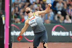 Germany's Robert Harting in action in the Men's Discus Throw Final during day two of the 2017 IAAF World Championships at the London Stadium. PRESS ASSOCIATION Photo. Picture date: Saturday August 5, 2017