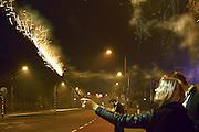 Nederland, Nijmegen, 1-1-2016Nieuwjaar met afsteken van vuurwerk in Nijmegen.Foto: Flip Franssen/Hollandse Hoogte