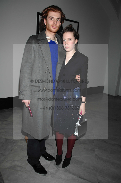 RODOLPHE & LADY FRANCES VON HOFMANNSTHAL daughter of the Earl of Snowdon at the opening party for 'Face of Fashion' an exhibition of photographs by five of the World's leading fashion photographers held at the National Portrait Gallery, St.Martin's Lane, London on 12th February 2007.<br /><br />NON EXCLUSIVE - WORLD RIGHTS