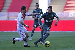 May 5, 2019 - Monaco, France - Remy Cabella (AS Saint Etienne) - Adrien Silva  (Credit Image: © Panoramic via ZUMA Press)
