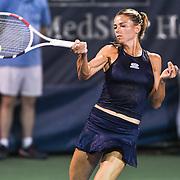 CAMILA GIORGI hits a forehand at the Rock Creek Tennis Center.