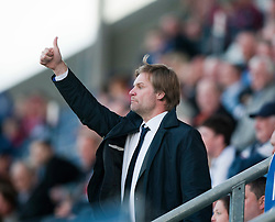 Steven Pressley, Falkirk manager, in the stand..Falkirk 1 v 0 Dundee, Ramsdens Cup Second Round, 9th August 2011.