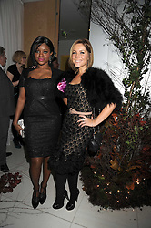 Left to right KEISHA BUCHANAN and HEIDI RANGE from the Sugababes at a reception before the launch of the English National Ballet Christmas season launch of The Nutcracker held at the St,Martins Lane Hotel, London on 5th December 2008.