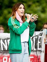 Juno Dawson at the trans life matters protest parliament sq london 4th july 2020. photo by Brian Jordan