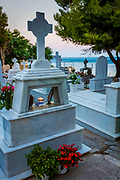 Graveyard in Pythagoreio on the greek island of Samos