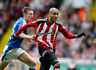 Leon Clarke of Sheffield Utd in action during the English League One match at  Bramall Lane Stadium, Sheffield. Picture date: April 30th 2017. Pic credit should read: Simon Bellis/Sportimage