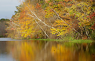 Town of Wallkill, New York - Autumn leaves are reflected in a lake at Highland Lakes State Park on Oct. 16. 2011.