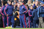 Ryan Giggs, the Manchester United Coach looks on from the touchline after the final whistle. Barclays Premier league match, Tottenham Hotspur v Manchester Utd at White Hart Lane in London on Sunday 10th April 2016.<br /> pic by John Patrick Fletcher, Andrew Orchard sports photography.