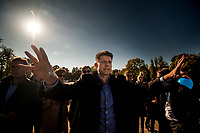 10.10.2015 Bialystok woj podlaskie Spotkanie lidera Nowoczesnej Ryszarda Petru z mieszkancami Bialegostoku N/z Ryszard Petru fot Michal Kosc / AGENCJA WSCHOD