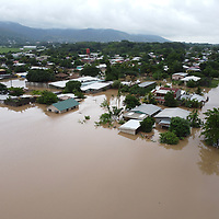 A flooded area of Pimienta near San Pedro Sula, Honduras, directly after hurricane Iota. The water came at 2am, a lot of people were prepared, but flash flooding caught many by surprise and they lost all their belongings.
